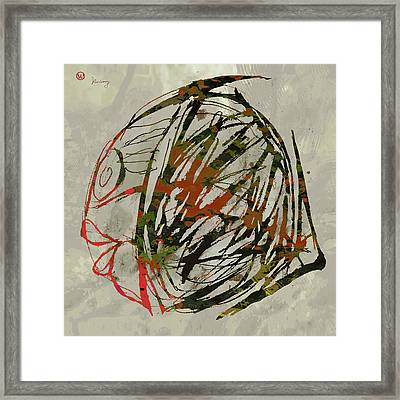 Pop Art Fish Poster Framed Print by Kim Wang