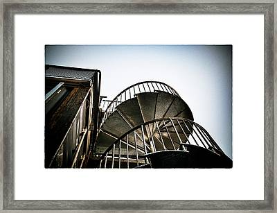 Pop Brixton - Spiral Staircase - Industrial Style Framed Print