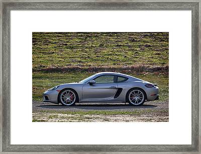 Framed Print featuring the photograph #porsche #718cayman S #print by ItzKirb Photography