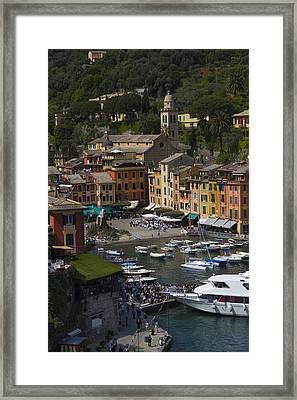 Portofino In The Italian Riviera In Liguria Italy Framed Print
