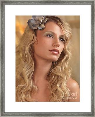 Portrait Of A Beautiful Young Woman Framed Print by Oleksiy Maksymenko