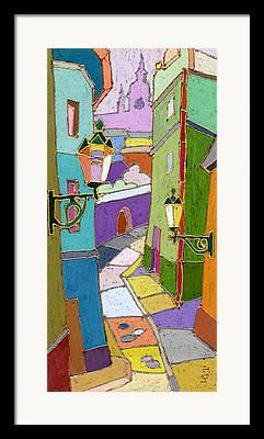 Pastel Colors Framed Prints