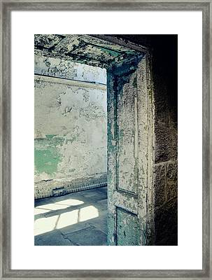 Prison Light And Shadows Framed Print by JAMART Photography