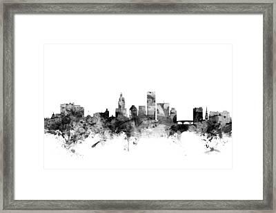 Providence Rhode Island Skyline Framed Print