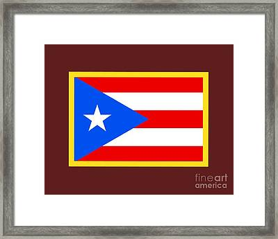 Puerto Rico Flag Framed Print by Frederick Holiday