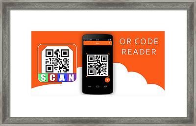 Qr Code Reader Framed Print by Smart Tool World