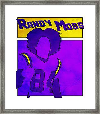 Randy Moss Framed Print by Kyle West