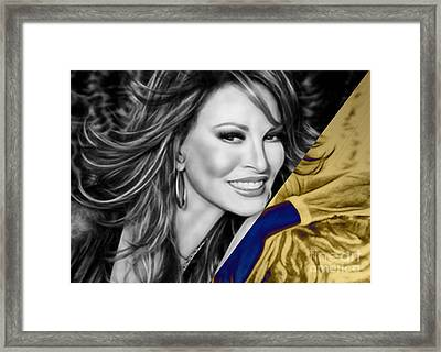 Raquel Welch Collection Framed Print