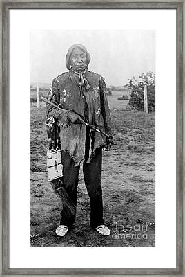 Red Cloud, Oglala Lakota Indian Chief Framed Print by Science Source