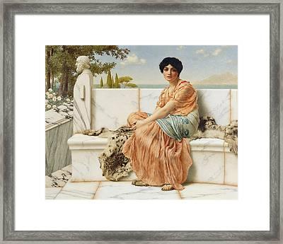 Reverie Framed Print by John William Godward