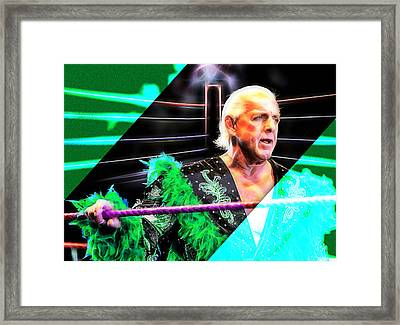 Ric Flair Wrestling Collection Framed Print by Marvin Blaine
