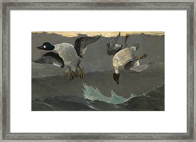 Right And Left Framed Print by Winslow Homer