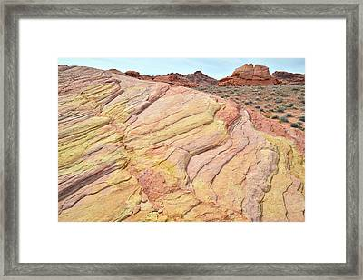 Framed Print featuring the photograph Ripples Of Color In Valley Of Fire by Ray Mathis