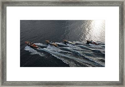 Riva Runabouts Framed Print