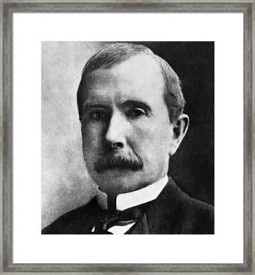 Rockefeller Family. Industrialist John Framed Print