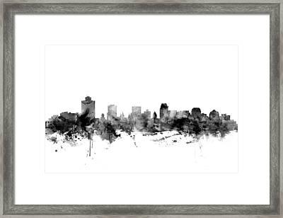 Salt Lake City Skyline Framed Print