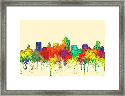 Salt Lake City Utah Skyline Framed Print by Marlene Watson