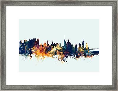 Salzburg Austria Skyline Framed Print