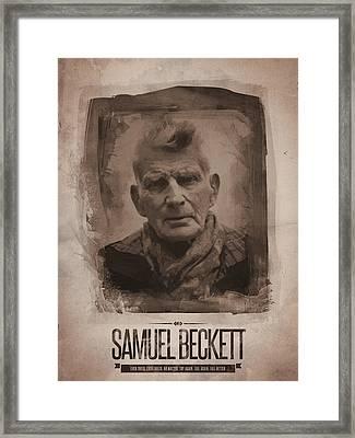 Samuel Beckett 02 Framed Print