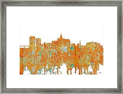 Saskatoon Sask.skyline Framed Print