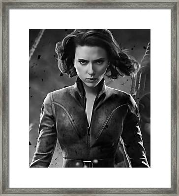 Scarlett Johansson Black Widow Collection Framed Print