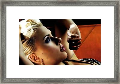 Scarlett Johansson Collection Framed Print by Marvin Blaine