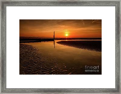 Seascape Sunset Framed Print