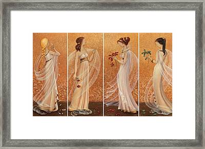 4 Seasons Framed Print by Barbara Gerodimou