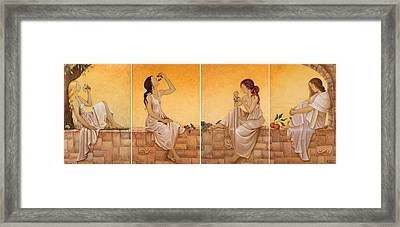 4 Seasons II Framed Print by Barbara Gerodimou