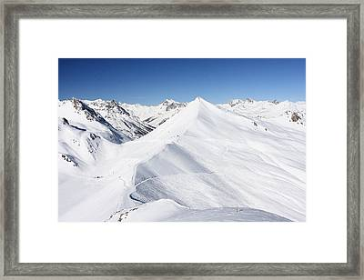 Serre Chevalier In The French Alps Framed Print by Pierre Leclerc Photography