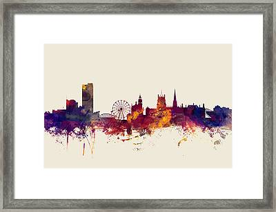 Sheffield England Skyline Framed Print