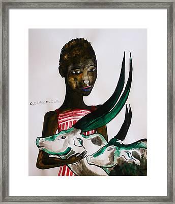 Shilluk Bride - South Sudan Framed Print