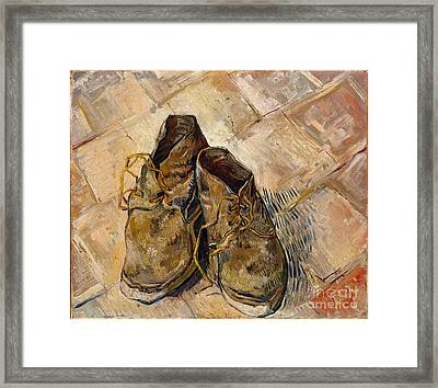 Shoes Framed Print by Celestial Images