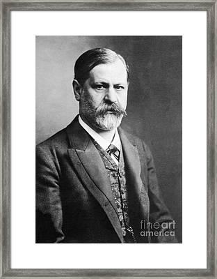 Sigmund Freud, Father Of Psychoanalysis Framed Print