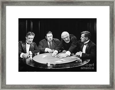 Silent Film Still: Gambling Framed Print