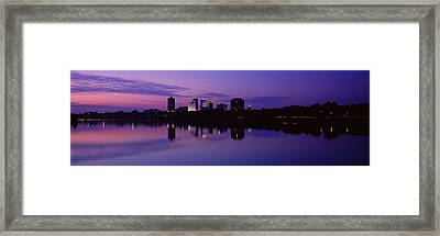 Silhouette Of Buildings Framed Print by Panoramic Images
