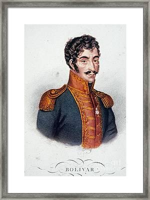 Simon Bolivar (1783-1830) Framed Print by Granger