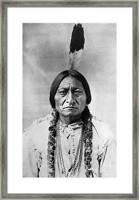 Sitting Bull 1834-1890. To License For Professional Use Visit Granger.com Framed Print