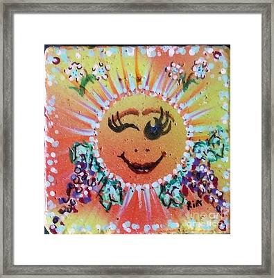 Smiley Tiley Framed Print by Maria Pancheri