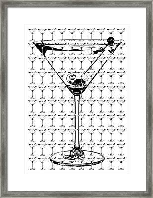 So Many Martinis So Little Time Framed Print by Jon Neidert