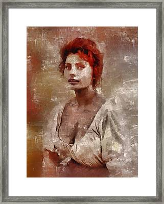 Sophia Loren Hollywood Actress Framed Print by Mary Bassett