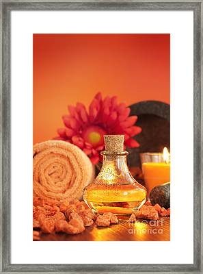 Spa Setting  Framed Print