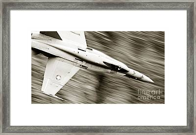 Speed Of Sound Framed Print by Angel  Tarantella