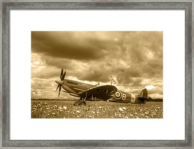 Spitfire Mk Ixb Framed Print by Chris Day