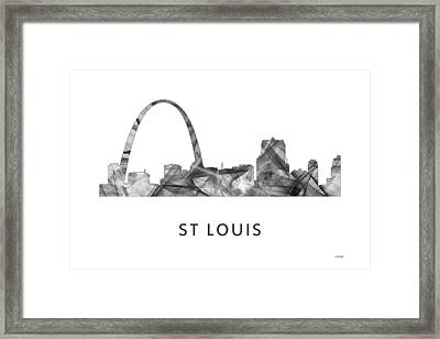 St Louis Missouri Skyline Framed Print by Marlene Watson