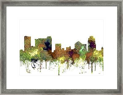 St Petersburg Florida Skyline Framed Print