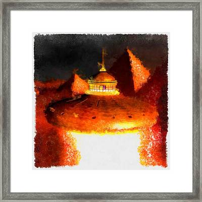 Steampunk Ufo Framed Print by Esoterica Art Agency