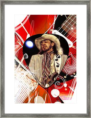 Stevie Ray Vaughan Art Framed Print