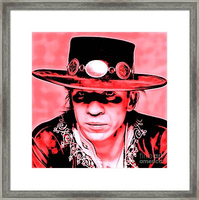 Stevie Ray Vaughan Collection Framed Print by Marvin Blaine