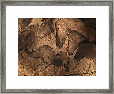 Stone-age Cave Paintings, Chauvet, France Framed Print